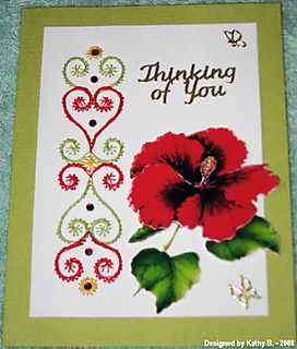 Kathy B Hibiscus (craftynikky) with stitched border