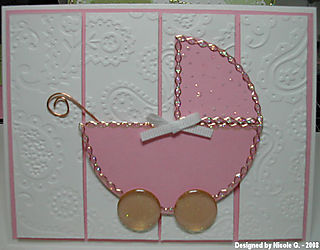 Nicole G baby carriage card 1