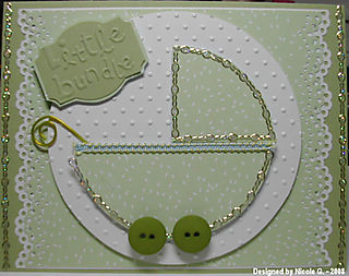 Nicole G baby carriage card 2