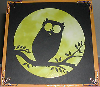 Nicole G (Craftynikky) owl silhouette