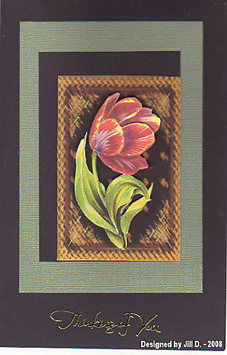 Jill D penny thinking of you card374