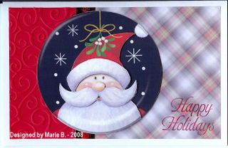 Marie B Santa disc_Happy Holidays