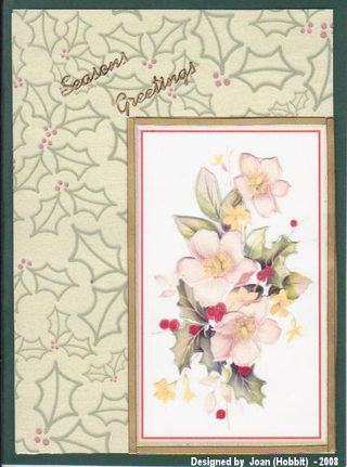 Joan Season's greetings floral Joan(Hobbit)