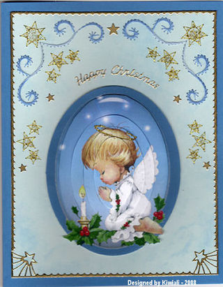 Kiwiali angel and stitched border