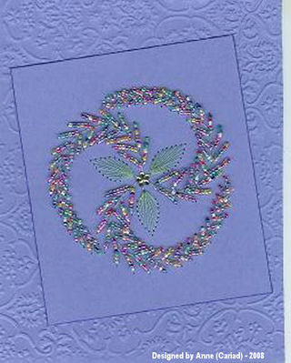 Anne Cariad October Beaded Card