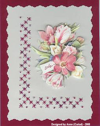 Anne Cariad November 3D Flower Card