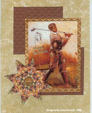 Anne Cariad October Tea Bag Card