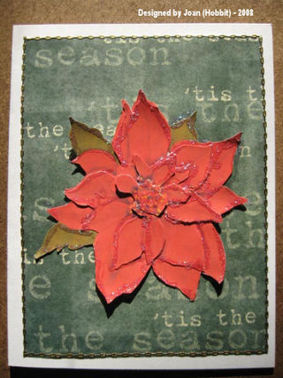 Joan (Hobbit) Xmas 08 Seasons Greetings Poinsetta