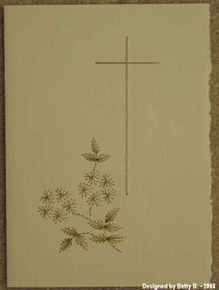 Betty B. Sympathy Card Cross