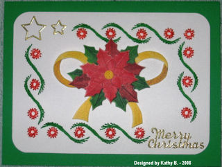 Kathy B's poinsettia and bow with stitching
