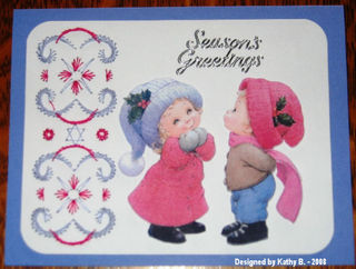Kathy B's kids in pink with stitching