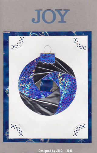 Jill D blue Christmas ornament448