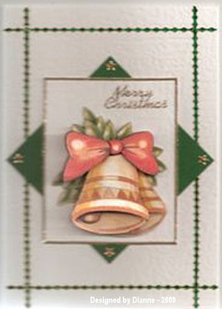Dianne 001 - No. 12Xmas Bell Card