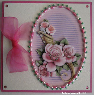 Anne D Pink roses Crafty Nikky