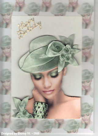 Shirley W nikky's green hat lady 2