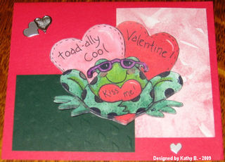 Kathy B's toad-ally cool valentine