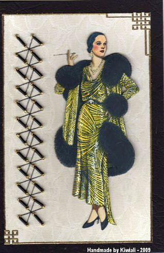Kiwiali 1929 Patou Evening Ensemble