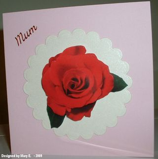 Mary E. Mothers day card