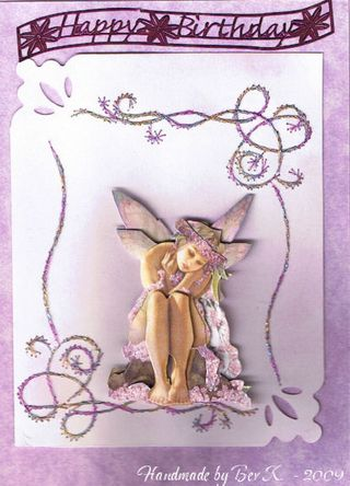 Bev K Stitching with Nikkis fairy 3D