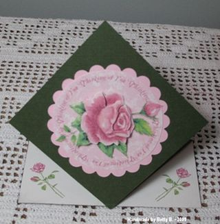 Betty B. Rose Spring Card