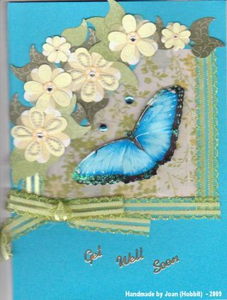 Blue Butterfly Get Well by Joan(Hobbit) front