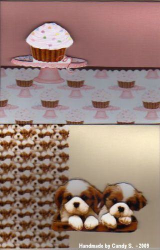 Candy S cupcake and puppies