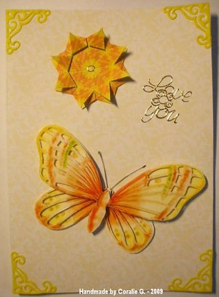 Coralie G yellow butterfly