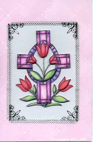 Jill D Acetate cross card067