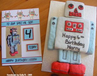 Sally R card & cake