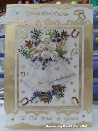 Carol S (Caz) Cream & Blue Wedding card 002