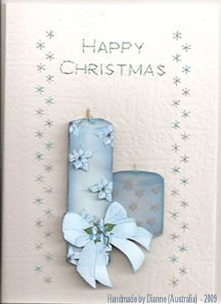 Dianne(Australia)No,34 Xmas Blue Candles