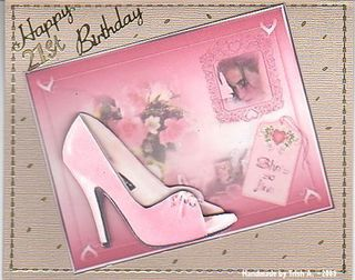 Trish A shoe+21st+card_