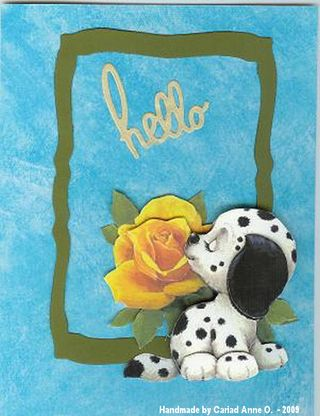Cariad Anne O August 09 Dalmation Nikky Image Card