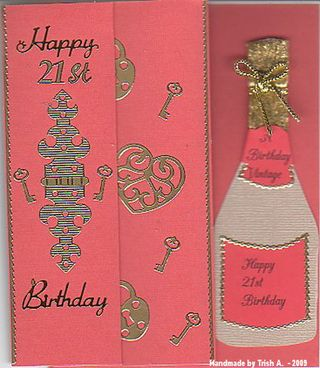 Trish A red+21st+card_