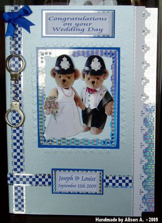 Alison A wedding card (police)