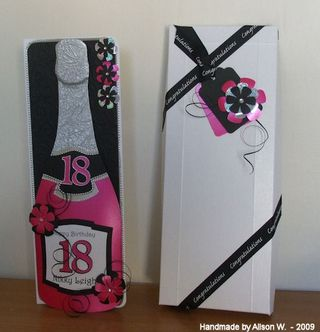 Alisonw - 18th champagne bottle