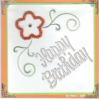 Trish A Orange beaded happy birthday