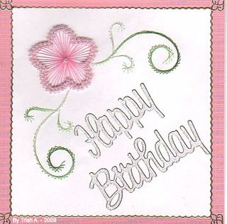 Trish A Pink beaded happy birthday