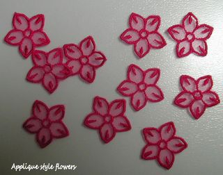 Applique style flowers