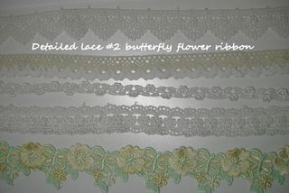 Detailed lace #2 butterfly flower ribbon