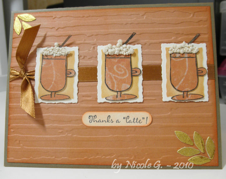 Nicole G latte frothe card