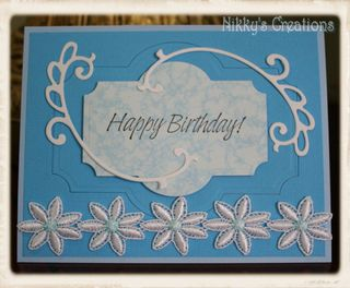 Nikky's creations blue card