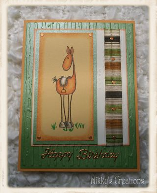 Nikky's creations horse card
