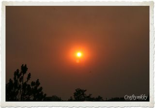 Sunset in smokey skies 2-end of May 2012