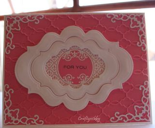 Craftynikky for you card 1