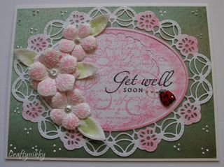 Craftynikky Get well soon lady bug card 1