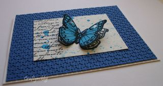 Craftynikky Butterfly series 1 card 2