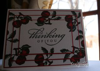 Craftynikky Thinking of you cherries card 1