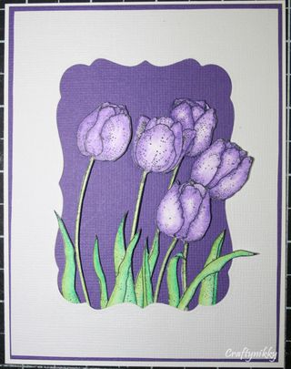Craftynikky loads of tulips card 1