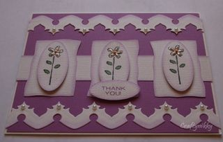 Craftynikky thank you flower trio card 1